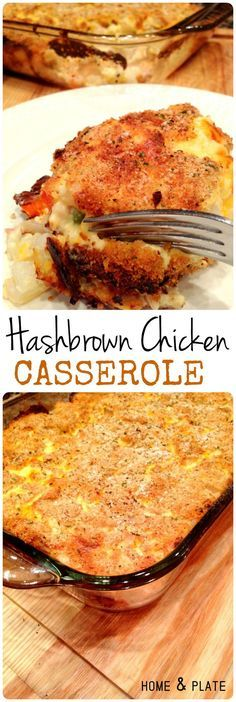 Hash Brown Chicken Casserole | Home  Plate | https://www.homeandplate.com | This casserole has tender bits of roasted chicken breast, hash brown potatoes, shredded cheddar cheese and your favorite mixed vegetables.