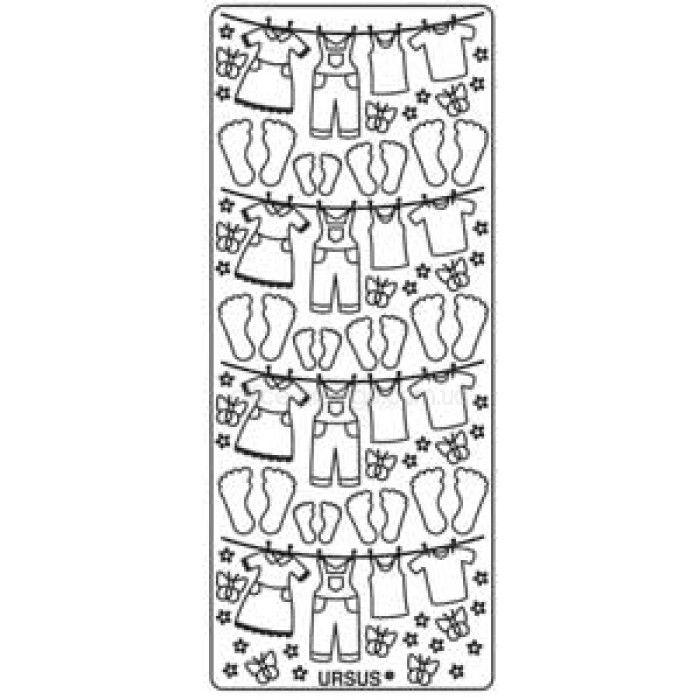 Наклейка URSUS 10*23см Бельевая веревка, Серебро UR-5911 00 25
