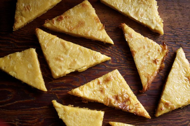 Authentic Italian Chickpea Flatbread | IPOM  (2.5) cups chick-pea flour* (also called gram or garbanzo flour) (3.5) cups fresh cold water (1 tsp) salt & black pepper, or to taste (1/4) cup extra virgin olive oil