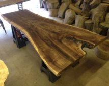 Live Edge Table - Live Edge Dining Table - Wood Slab Table - Live Edge Slab - Wood Slab Dining Table - Wood Dining Table