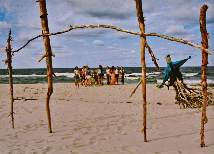 "Yury Ermolenko, ""BALTIC NYMPHS"" (Land art project ""Baltic - Hel""), 2003, Hel Peninsula, Baltic Sea, Poland #YuryErmolenko #юрийермоленко #ЮрийЕрмоленко #yuryermolenko #юрiйєрмоленко #ЮрiйЄрмоленко #юрийермоленкохудожник #landart #balticsea #sea #sky #amazing #RapanStudio #photo #photography #metaphysics #metaphysical #philosophy #installation #лэндарт #инсталляция #art #contemporaryart #modernart #magic #texture #лэндарт #poland #hel #helpeninsula #artproject #искусство #creative"
