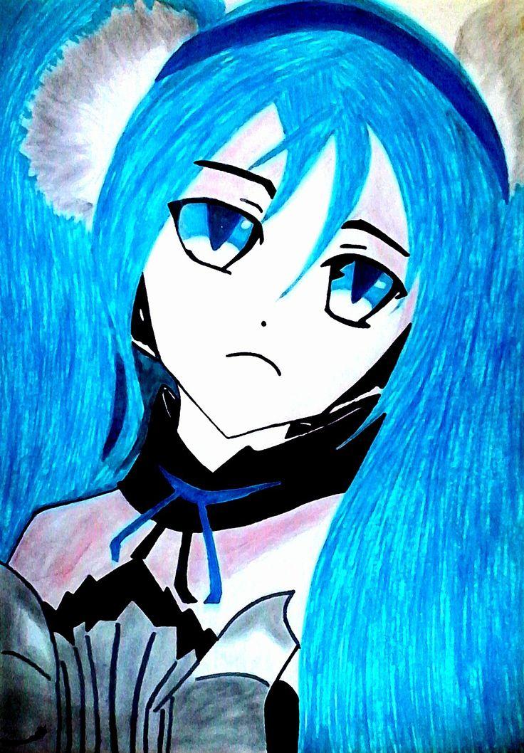 I just tried…to draw •••Miku Hatsune - Vocaloid•••