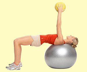 Fight Arm Flab in 10 Minutes. 5 Step workout using a medicine ball.