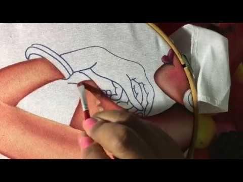 Pintura En Tela Africana # 4 Con Cony - YouTube