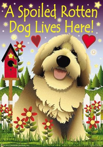 Mini YARD U0026 GARDEN FLAG ~ A SPOILED ROTTEN DOG LIVES HERE