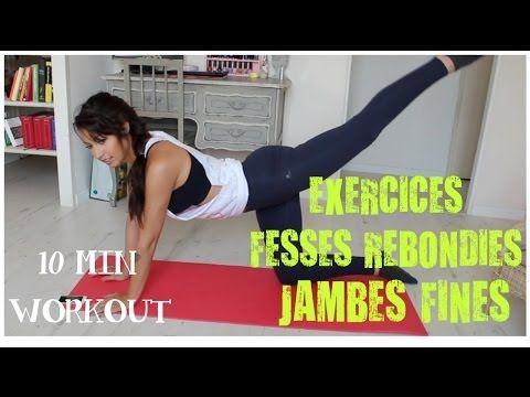 GET SEXY: Mes meilleurs exercices pour des fesses rebondies + jambes fines en 10 min! - YouTube