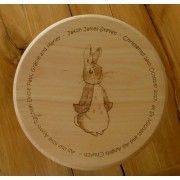 Personalised wooden stool. Small Wooden Stool  -  Peter Rabbit design