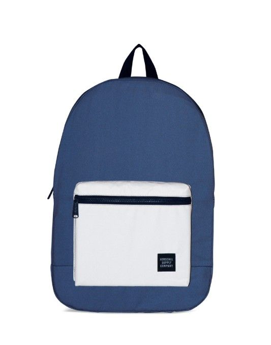 Herschel Packable Daypack Bag Blue & White ON SALE NOW | Shop all sale at The Idle Man | #StyleMadeEasy