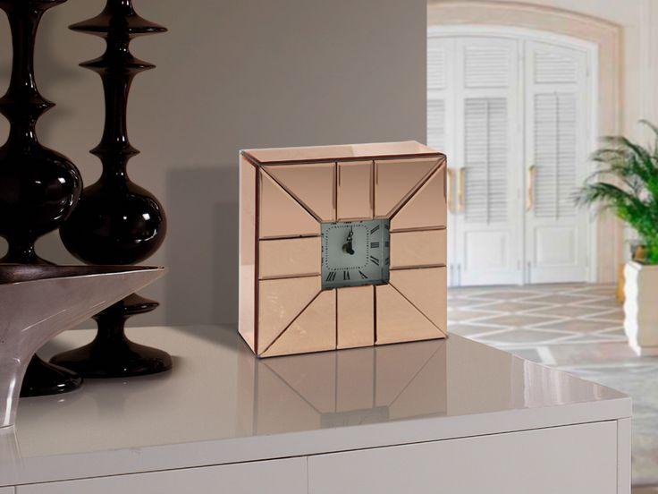 Schuller Mobiliario y Decoración Relojes Rose 728835  RELOJ D.SOBREMESA ·ROSE·26x26 Almeria reloj decoracion lampara electricidad aranda