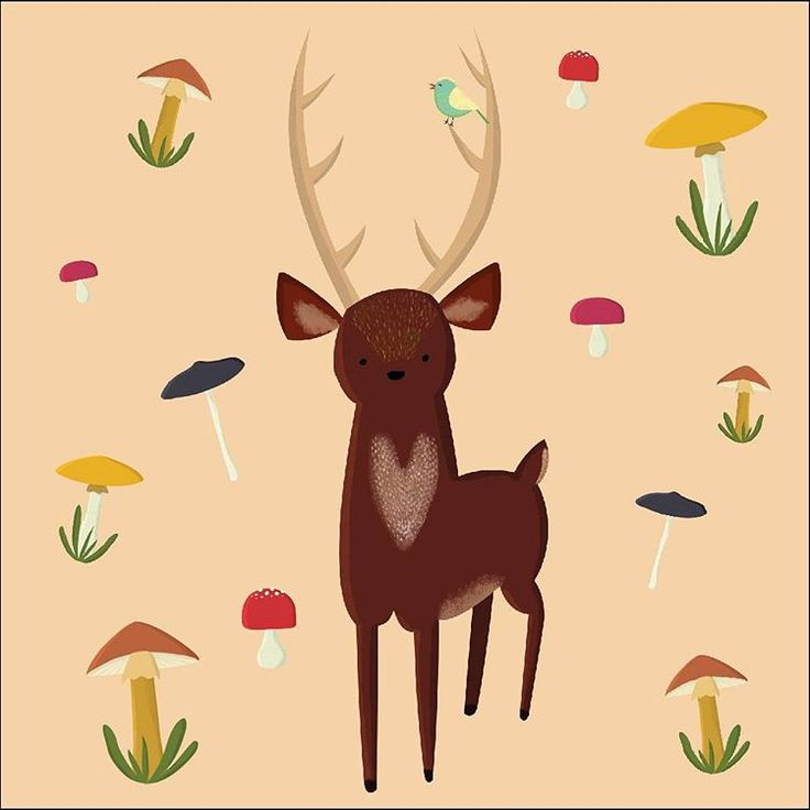 Dear Deer (I know, I know... ) Available on my Etsy shop, link in bio!