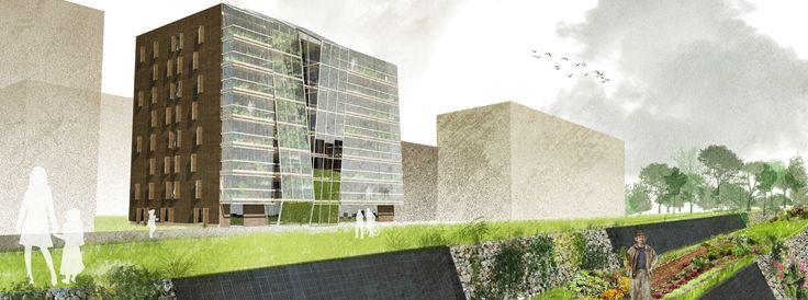 SocialFit: RetroFit di un ex-edificio residenziale  |  Progetto vincitore Sociafit: Retrofit of an ex-residential building  |  Winning project | Roma, Italy | 2014