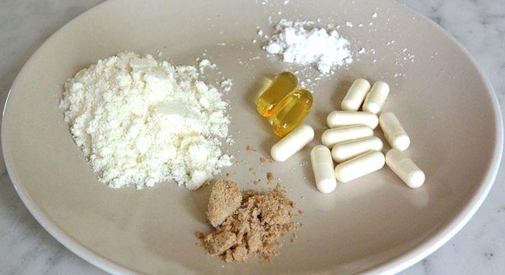 1  белок для восстановления и роста, 2 ВСАА предотвратить разрушение мышц , 3 L-cartinine -природная аминокислота , которая стимулирует метаболизм жиров 4. L-Глютамин -  природная аминокислота и делает ряд вещей , включая поддержку иммунитета ( в порошке, после трени в протеиновый коктейль) ,5 . ОМЕГА3-управление стрессом и снижения уровня холестерина,( утром)  6 Креатин поставляет энергию для ваших мышц (до или после трени)  7 Витамин C для восстановления тканей (утром)