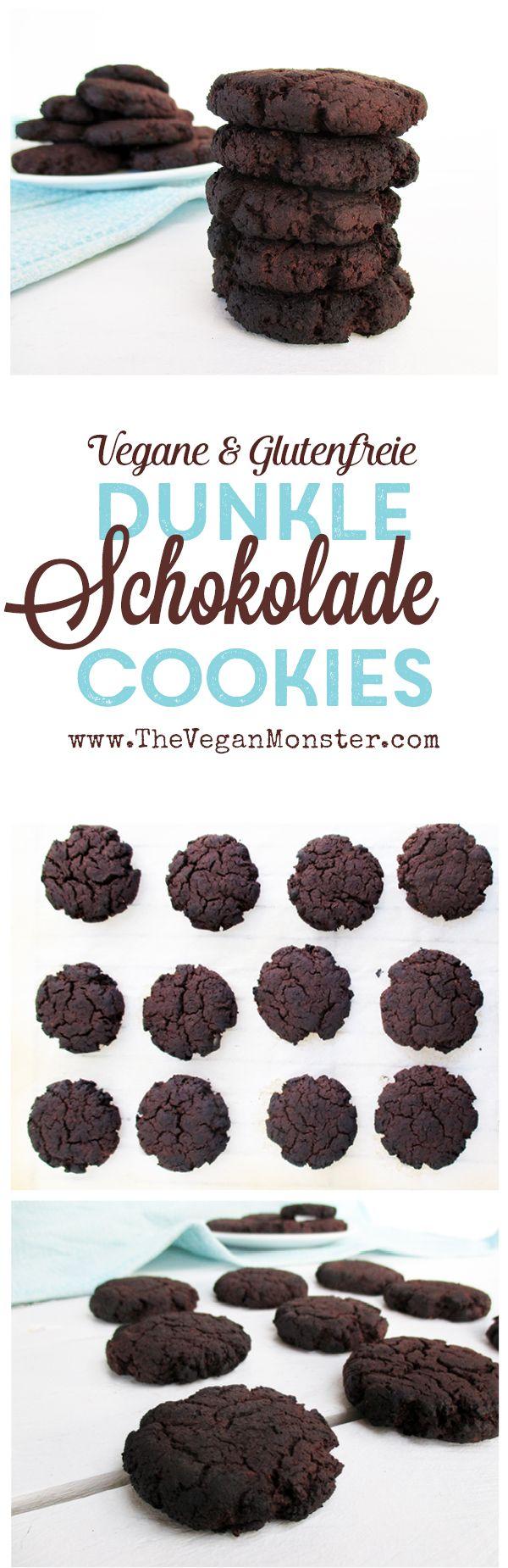 Vegane Glutenfreie Mehllose Dunkle Schokolade Cookies Ohne Getreide Ohne Nüsse Rezept