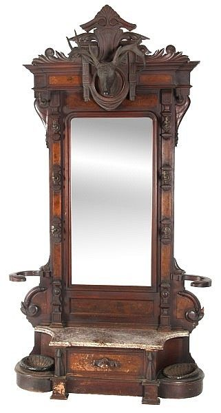 Buy Online, View Images And See Past Prices For Carved Walnut Marble Top  Hall Tree. Invaluable Is The Worldu0027s Largest Marketplace For Art, Antiques,  ...