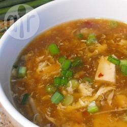 Szechuan-Style Hot and Sour Chicken Soup @ allrecipes.co.uk  Really tasty - added half a red pepper and fresh chill