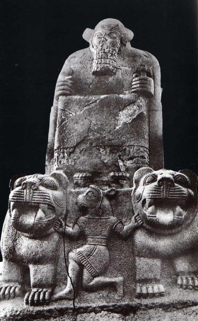 Hittite, Got Atarsuhas and lions, 1180-700 BC, Museum of Anatolian Civilisations, Ankara