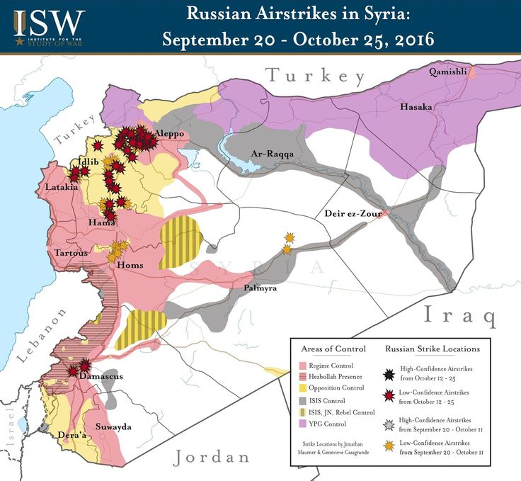 ISW Blog: Russian Airstrikes in Syria: September 20 - October 25, 2016