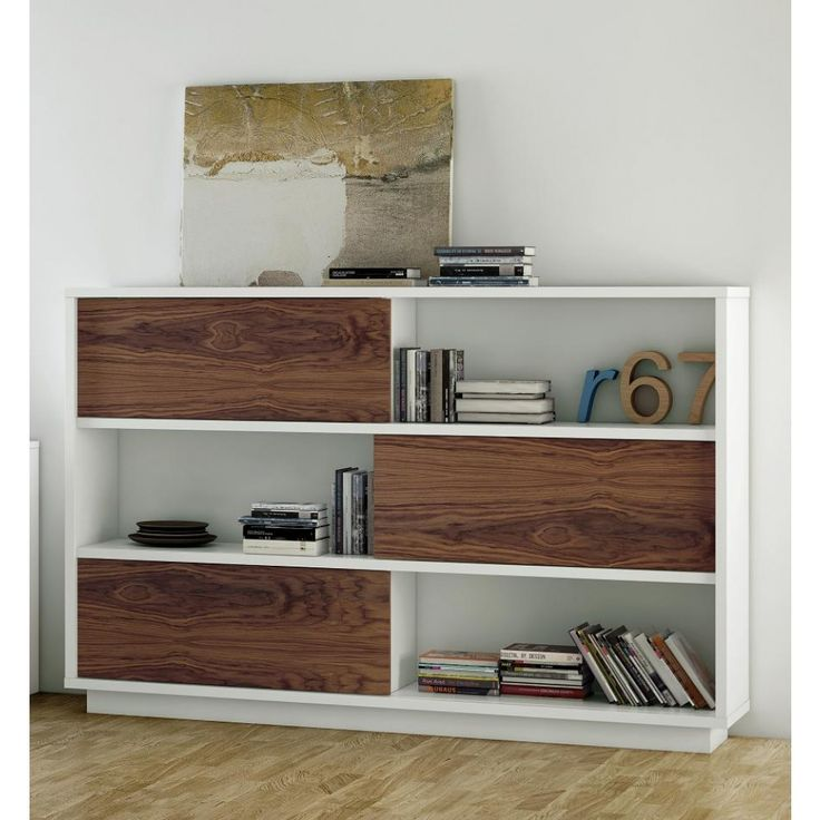 Acacia Contemporary Bookcase modern storage at