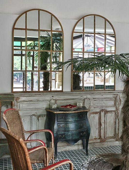 Оконные рамы в интерьере. Окна-столы, окна-зеркала и окна-рамки (50 фото)…