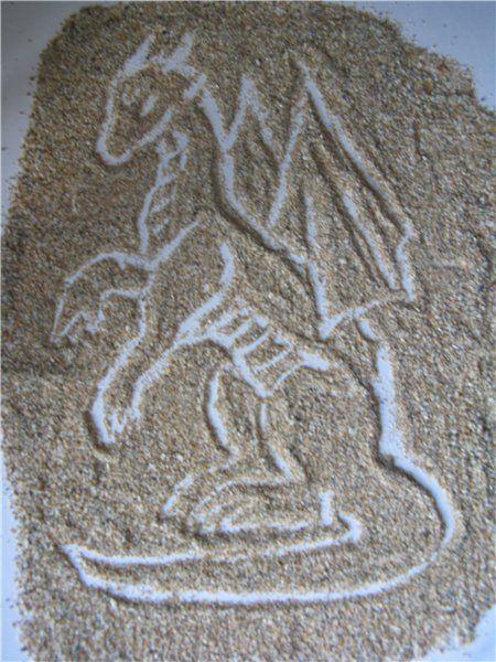 Песчаный иллюзавр. Автор: dragonoffate
