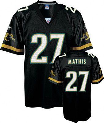 Reebok Jacksonville Jaguars Rashean Mathis 27 Black Authentic Jersey Sale