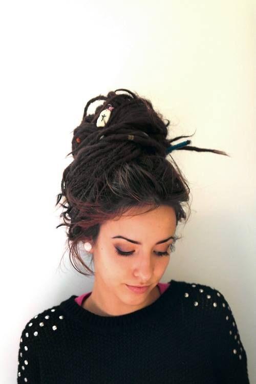 Enjoyable 1000 Ideas About Dreadlocks Updo On Pinterest Dreadlocks Locs Hairstyle Inspiration Daily Dogsangcom
