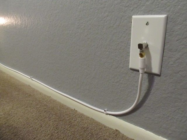 hide cable cords along wall - Gadget connector to change the angle of cable connection to wall outlet.