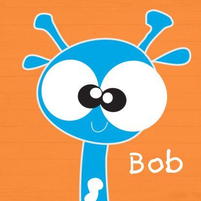 Mo Card grappige giraffe oranje - Geboortekaartje #giraffe #geboortekaartje #jongen #mocards #lief #creatief Www.Leukegeboortekaarten.nl