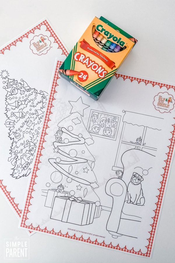 Elf On The Shelf Coloring Pages Free Printables With Images Christmas Tree Coloring Page Tree Coloring Page Coloring Pages