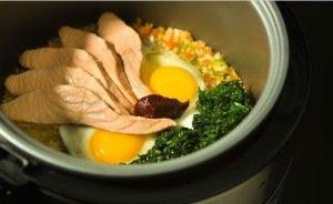 resepi bibimbap korea guna periuk nasi | Recipes, Rice