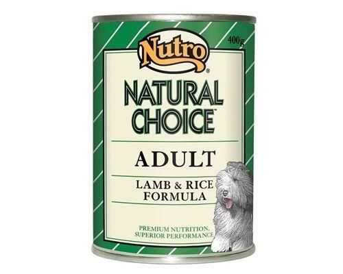 NUTRO DOG  LAMB & RICE 400G: Nutro Natural Choice Dog Food, Lamb and Rice Formula, 400gNutro Natural Choice wet dog food uses the goodness of lamb