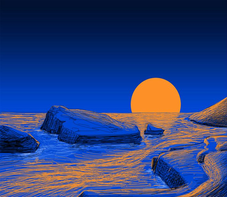 Sun down Digital sketch