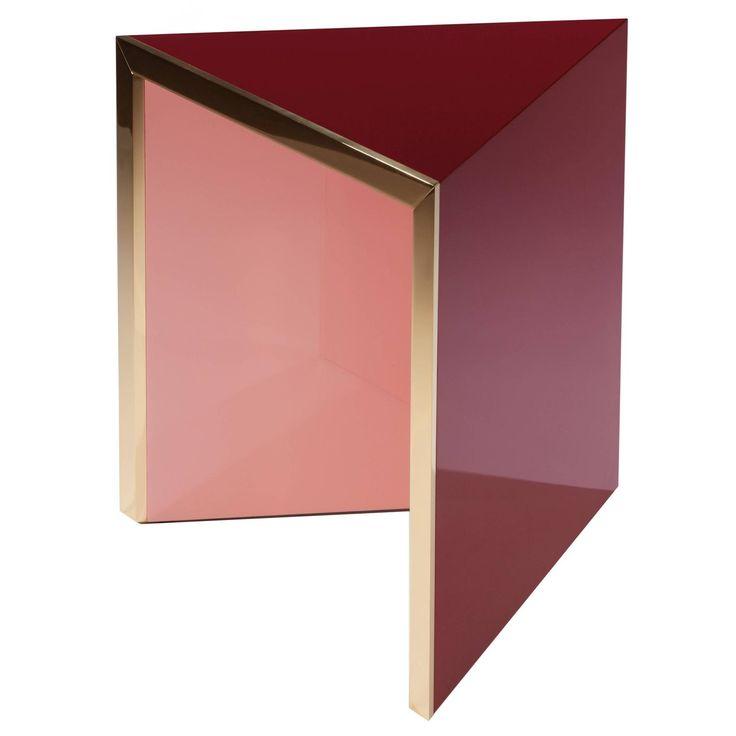 Side Table Prisme Pink by Hervé Langlais 1