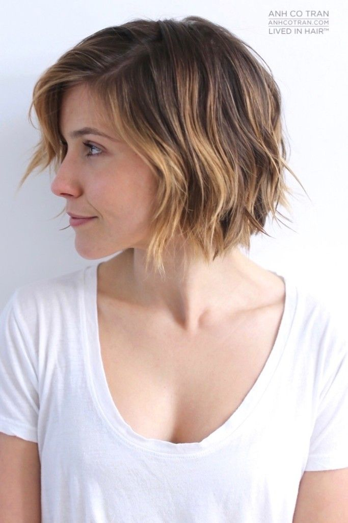 Wavy Bob Hairstyles Without Bangs : Best 25 short messy bob ideas on pinterest messy hair
