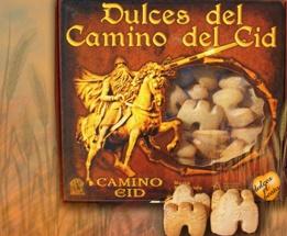 Pastas del Camino del CID. El Beato.    Variedades: almendra y nata.    Envase de 450 g.  Caja de 10 unidades.