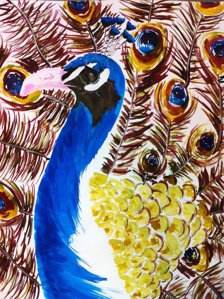 ECOLINE DRAWING - For the project about India I've made this drawing of a peacock. - www.madebysusan.com