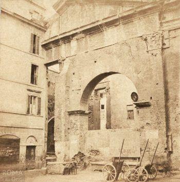 Portico d'Ottavia (Henri Plaut, 1859)