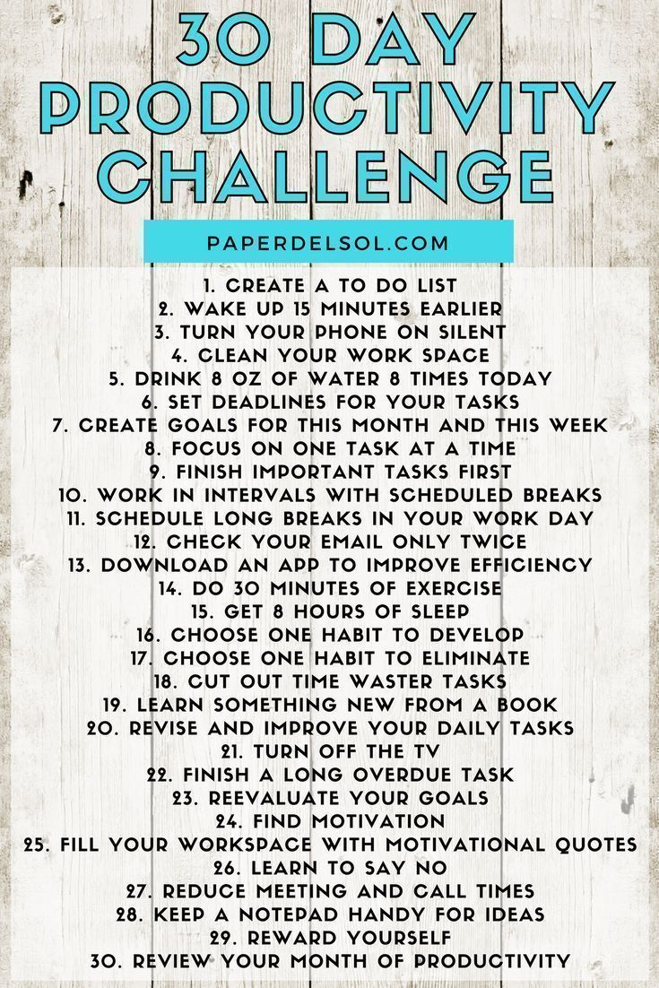 30 Day Productivity Challenge – #challenge #Day #p…