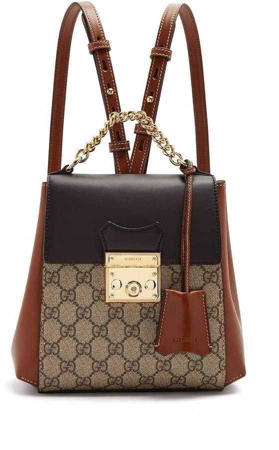 GUCCI GG Supreme leather backpack  gucci  ShopStyle  MyShopStyle click link  for more information  Designerhandbags   Designer handbags   Pinterest    Gucci, ... bb6078cbd8