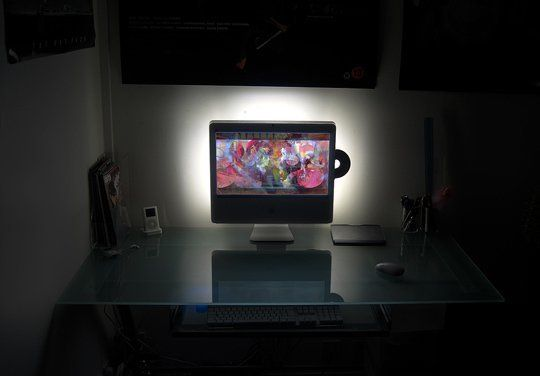 Creating the Perfect Backlit Workstation IKEA DIY Style