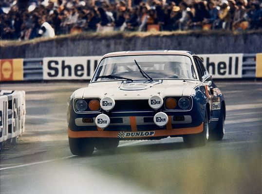 The Ford Capri 2600 RS of Dieter Glemser and Alex Soler-Roig at Le Mans 1972. After 24 hours they had achieved a very good 11th place among 55 starting cars.