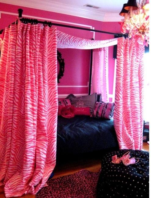Roze & zwart