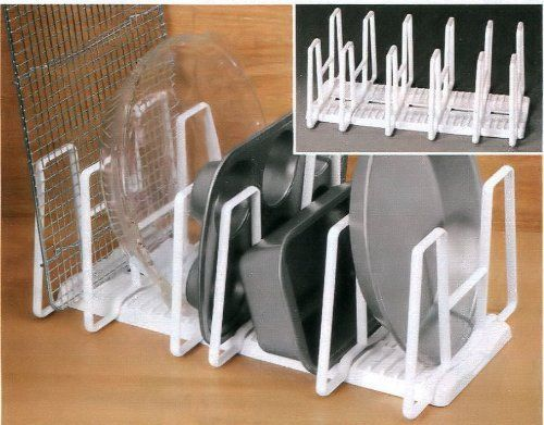 15 3 4 Quot Adjustable Bakeware Organizer Rack With 6 Dividers