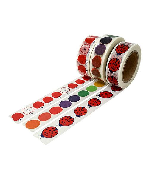 Look at this Dotty Design Washi Tape - Set of Three on #zulily today!