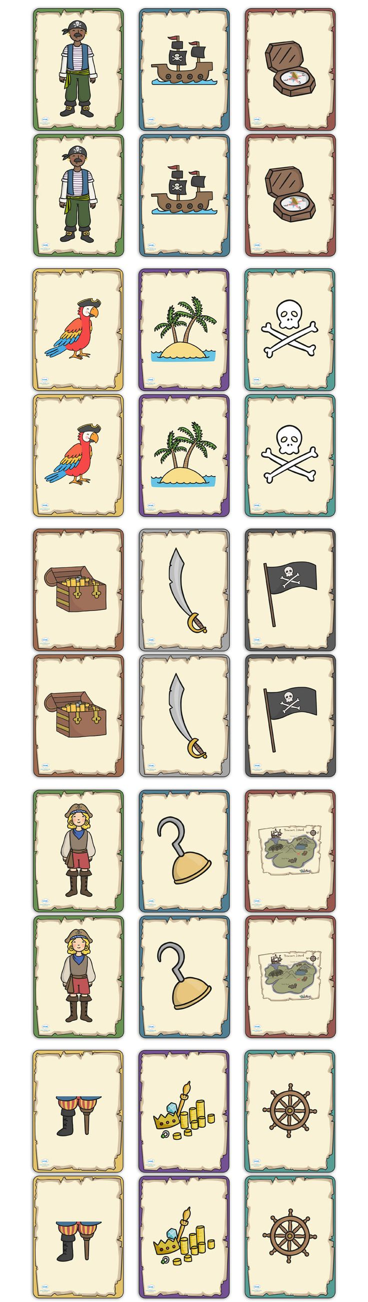 Twinkl Resources Pirate Themed Snap Cards Classroom printables for Pre-School, Kindergarten, Elementary School and beyond! Cards, Pirates, Activities, Games