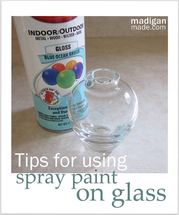 How to Use Spray Paint on Glass - at madiganmade.com