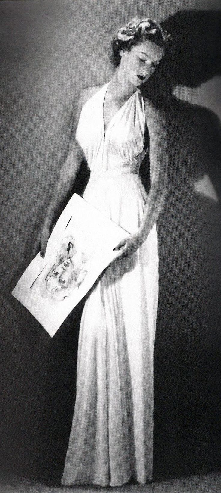 1940's fashion - Marella Caracciolo Agnelli, in Federico Forquet, 1945, Vogue, Photo by Arturo Ghergo