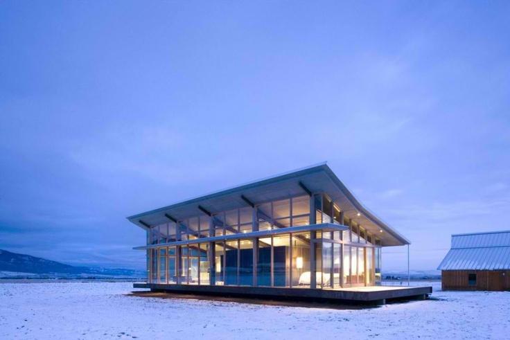 Glass Farmhouse by Olson Kundig Architects