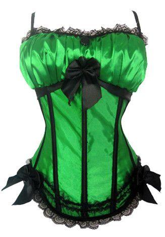 Burlesque Clothing | Green Bows Burlesque Corset