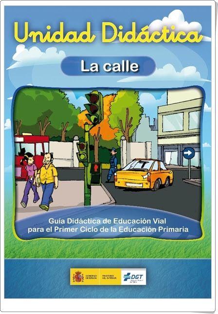 """""""La calle"""" es un cuaderno que desarrolla una unidad didáctica, de la Dirección General de Tráfico de España, sobre la Educación Vial para 1º y 2º niveles de Educación Primaria."""